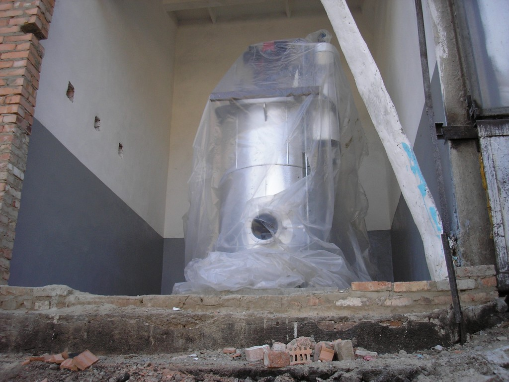 Паровой котел установленный на подготовленной площадке