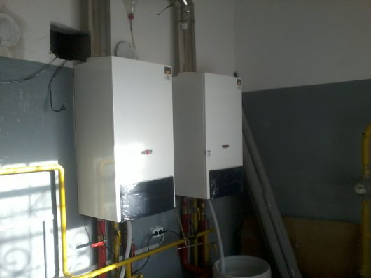 Топочная на 100 кВт с конденсационными котлами WOLF